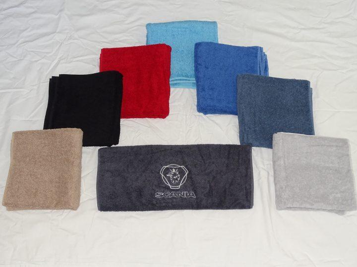Handdoek met Scania logo