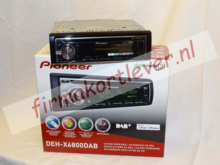 Pioneer DEHX6800 DAB radio digitaal cd-usb
