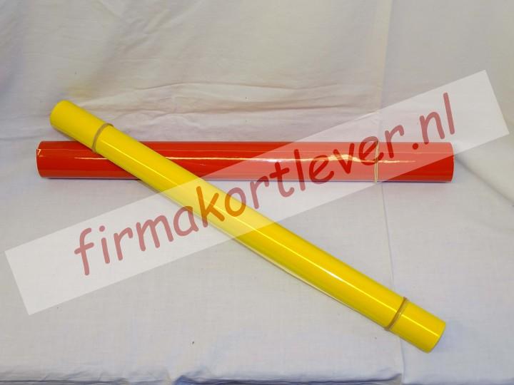 Lampen folie rood of geel