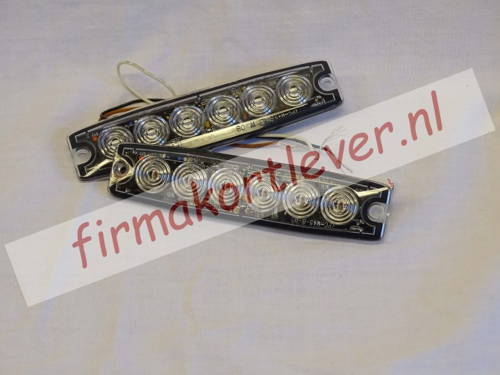 Ultradunne led-flitser met 6-leds