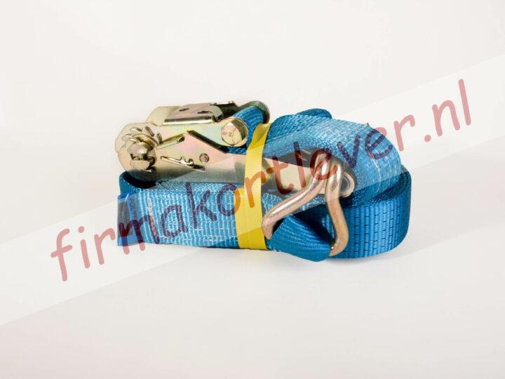 Spanband 5T 9 meter met spitshaak blauw