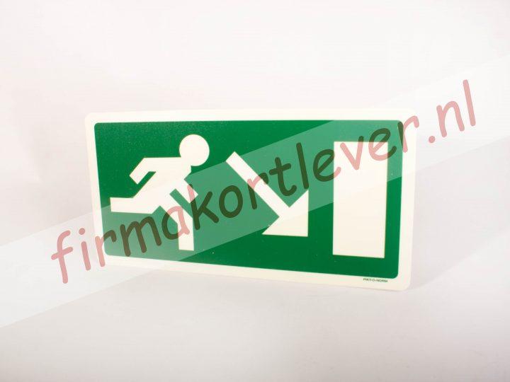 Pictogrammen redding en evacuatie