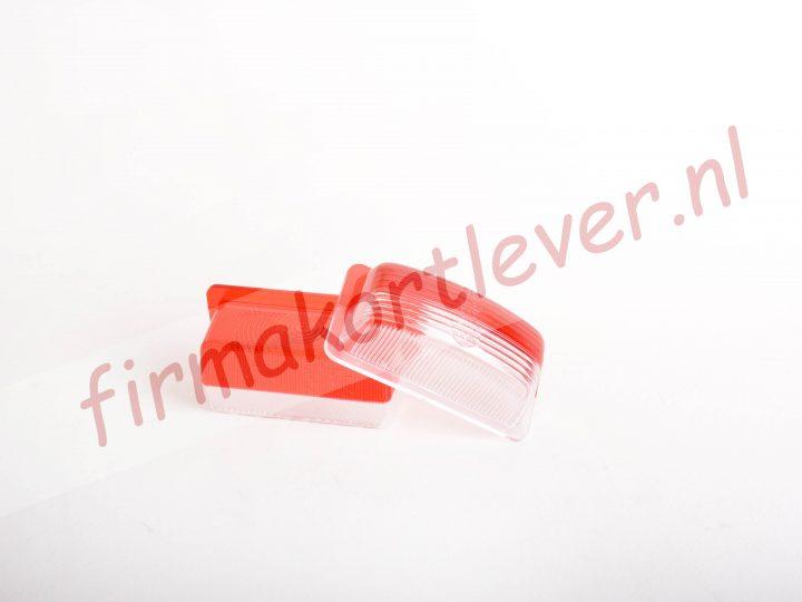 Breedtelamp ML lens rood en wit