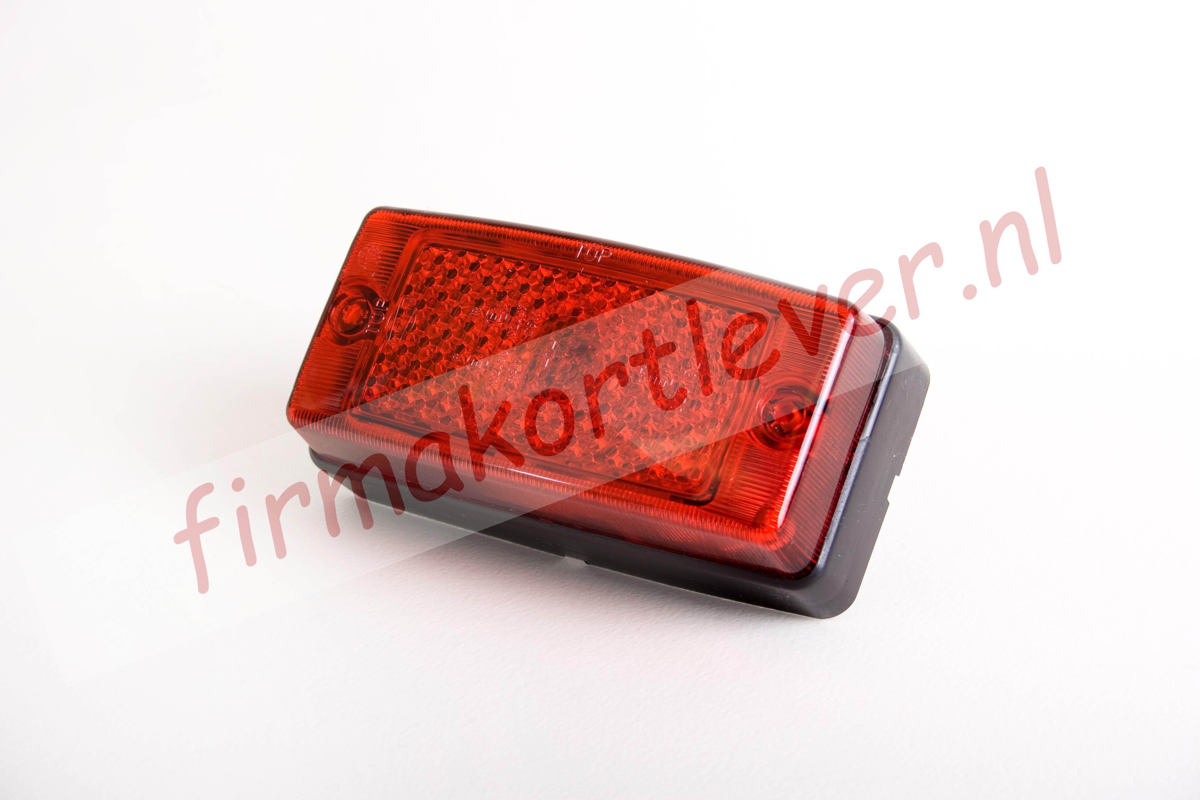Hella markeringslamp rood met reflector firma kortlever for Hella verlichting