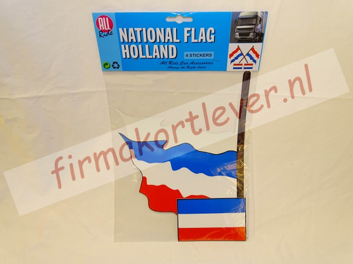 All Ride sticker Holland vlag