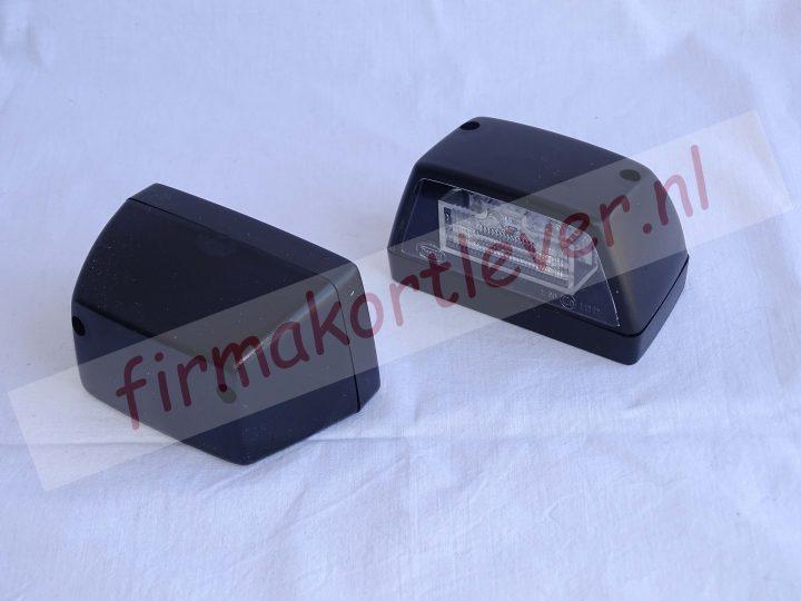 Dasteri LED kentekenverlichting zwart