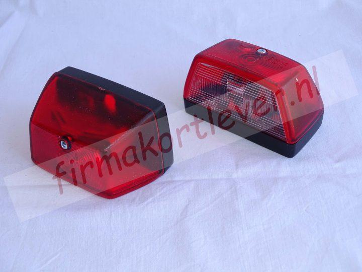 Dasteri kentekenverlichting rood halogeen 5watt