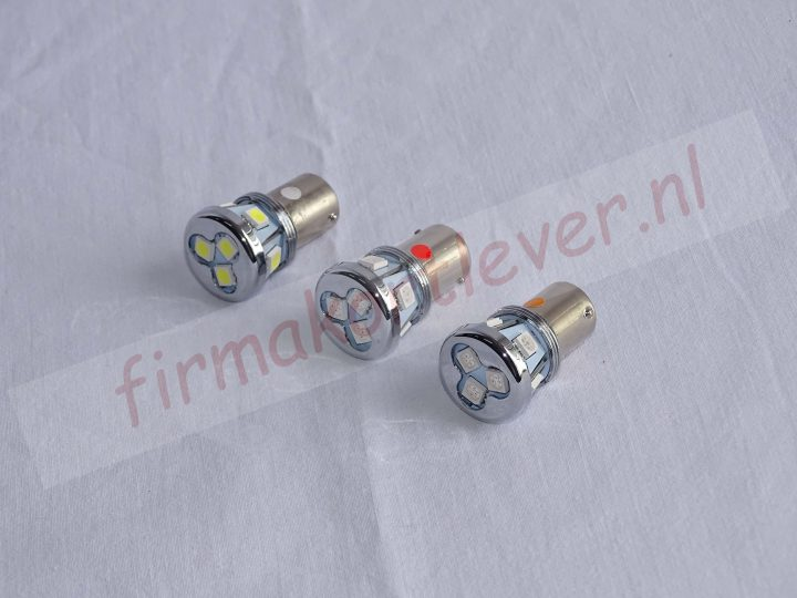 BA15s met 8 SMD LED's 12-24V