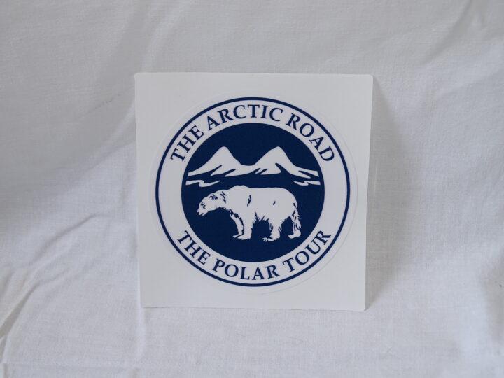 The arctic road The polar tour Sticker